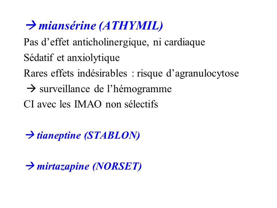 miansérine (ATHYMIL)