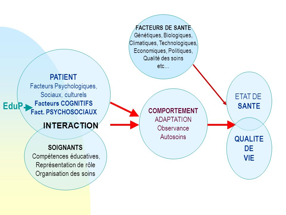 EduP PATIENT ETAT DE SANTE INTERACTION QUALITE DE VIE