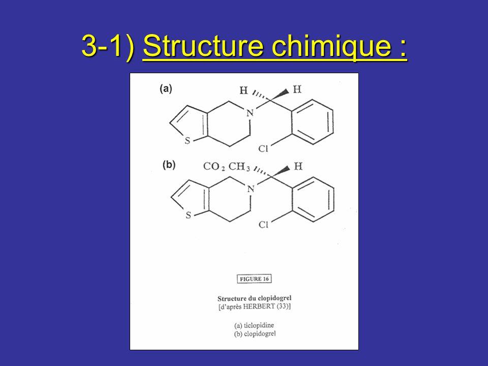 3-1) Structure chimique :