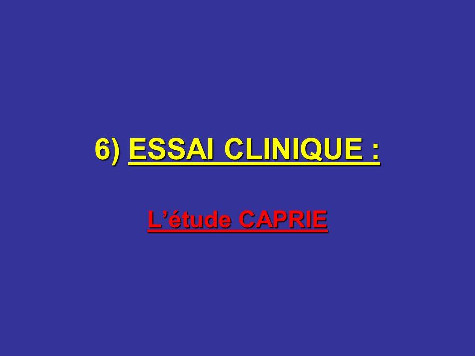 6) ESSAI CLINIQUE : L'étude CAPRIE