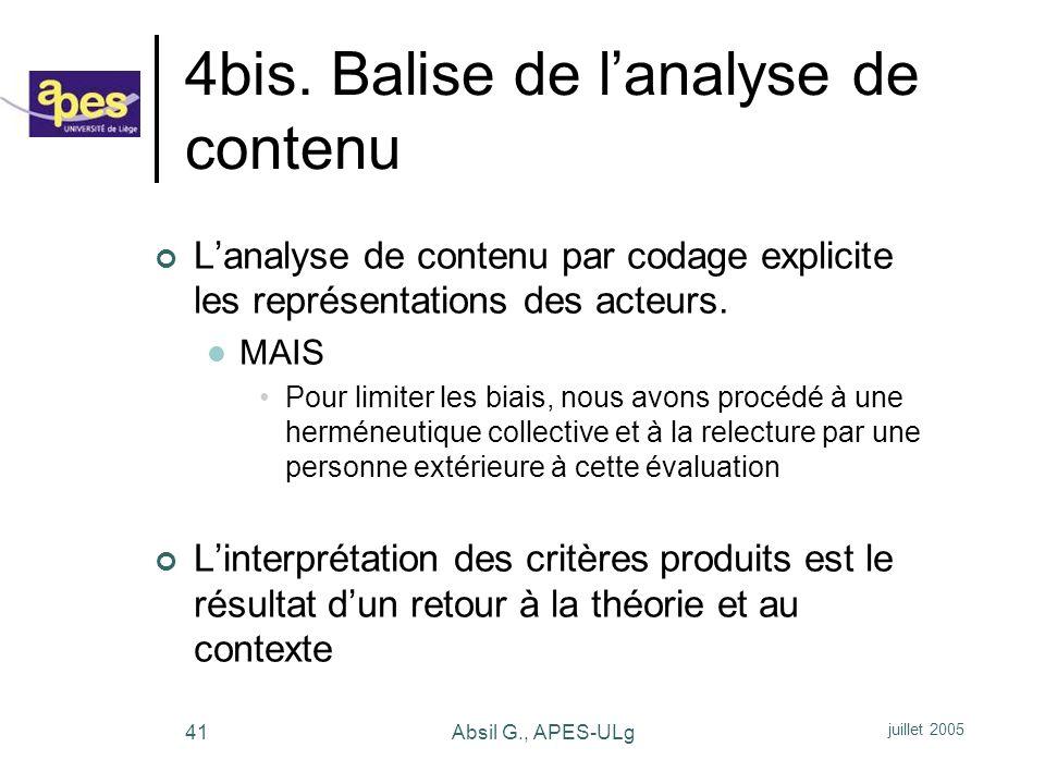 4bis. Balise de l'analyse de contenu