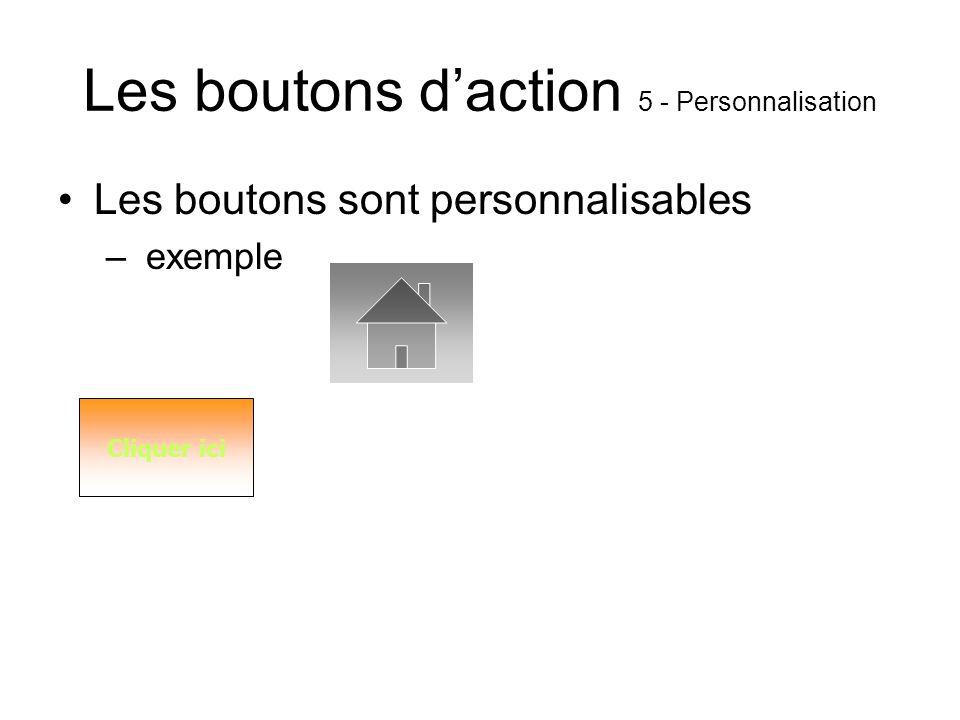 Les boutons d'action 5 - Personnalisation