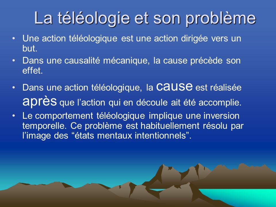 La téléologie et son problème
