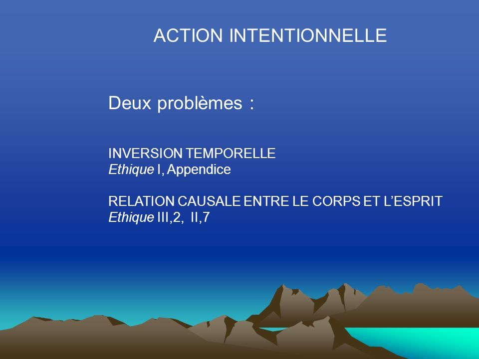 ACTION INTENTIONNELLE