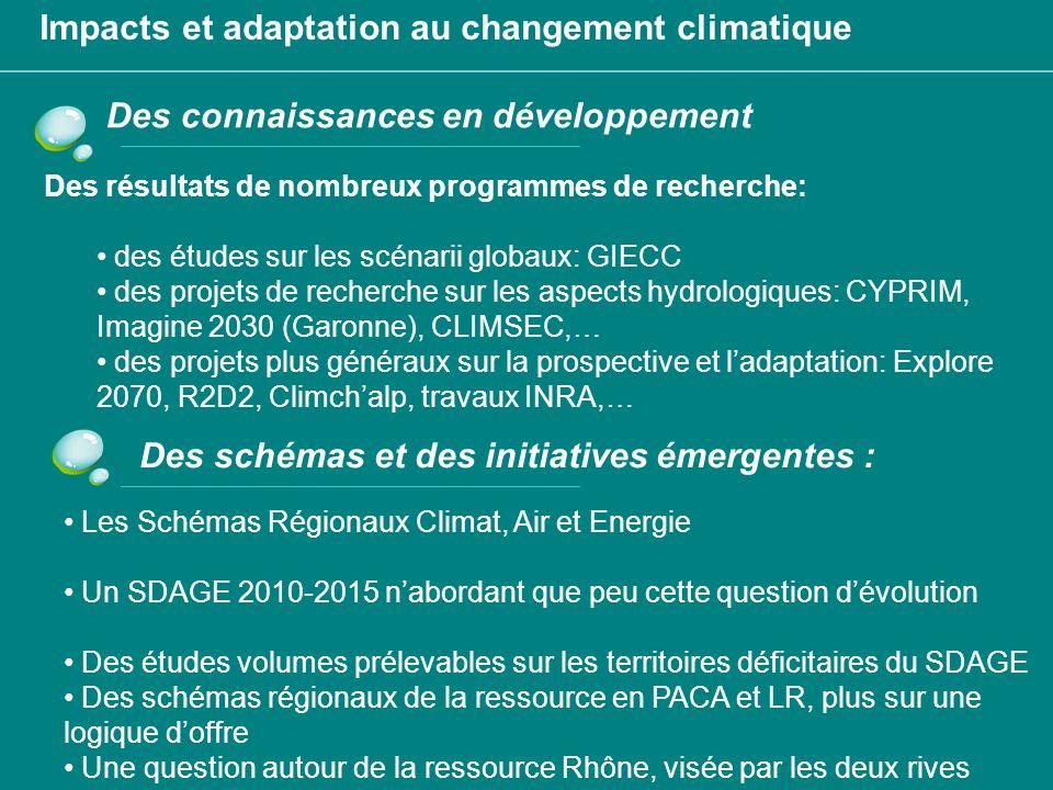 Impacts et adaptation au changement climatique