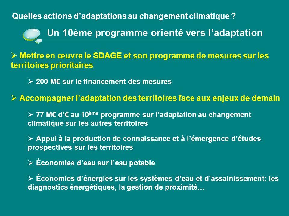 Un 10ème programme orienté vers l'adaptation