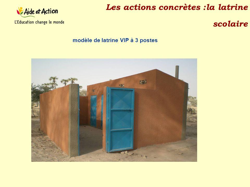 Les actions concrètes :la latrine scolaire