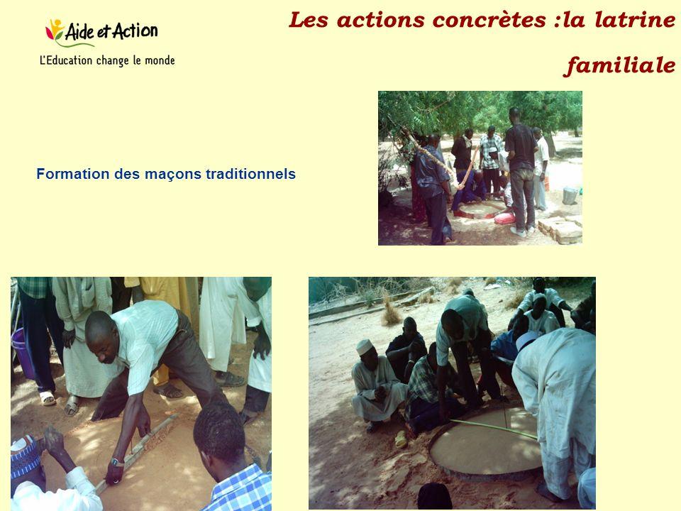 Les actions concrètes :la latrine familiale