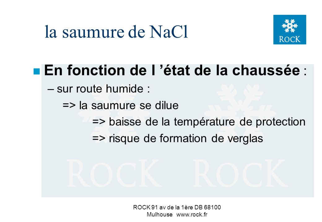 ROCK 91 av de la 1ère DB 68100 Mulhouse www.rock.fr