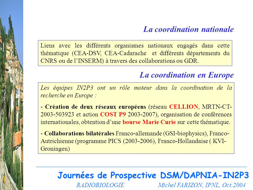 La coordination nationale