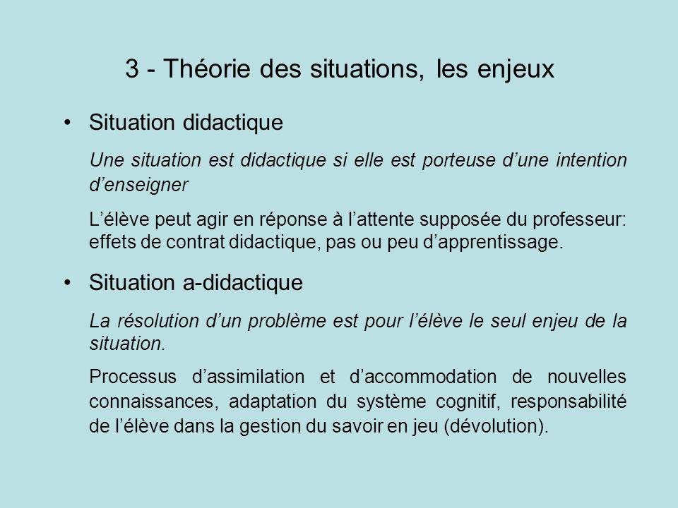 3 - Théorie des situations, les enjeux