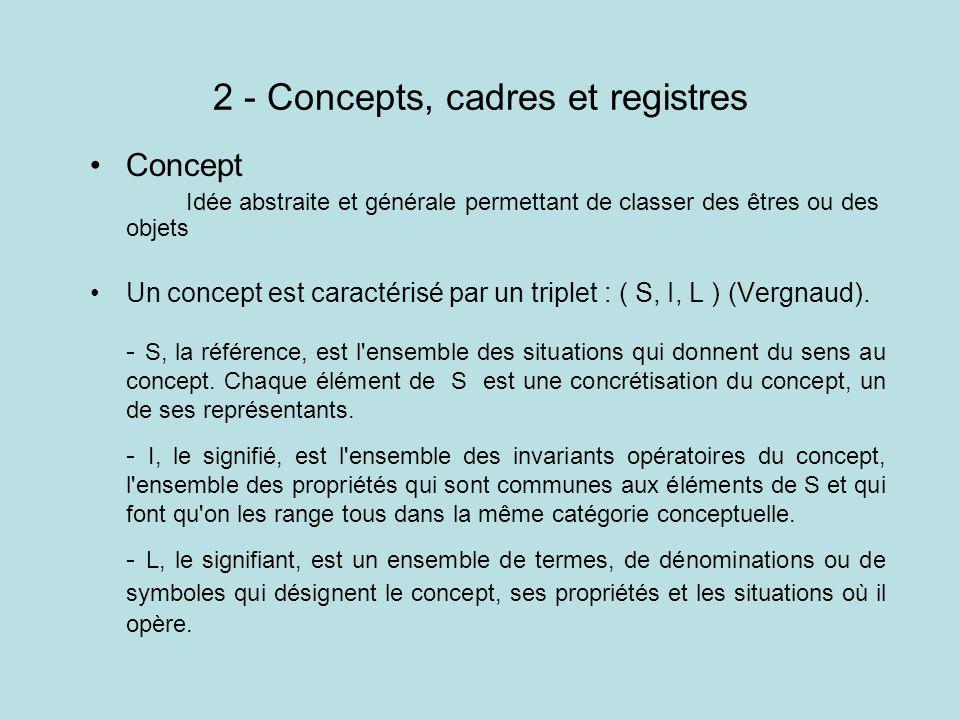 2 - Concepts, cadres et registres