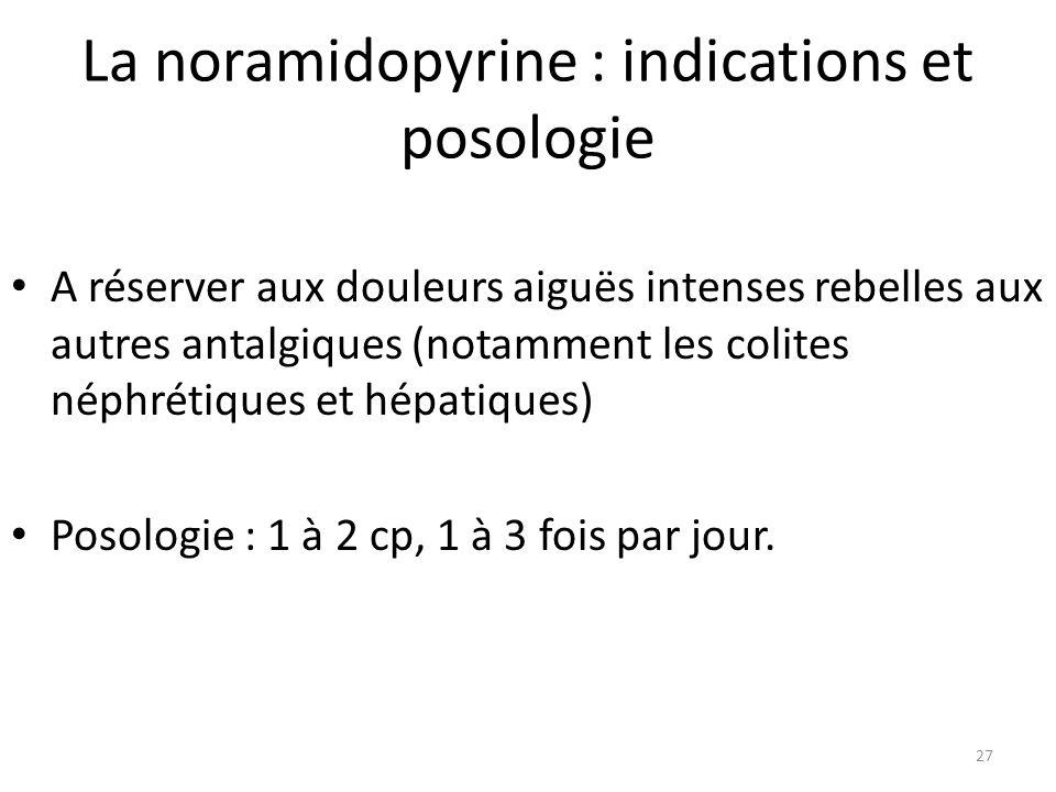 La noramidopyrine : indications et posologie
