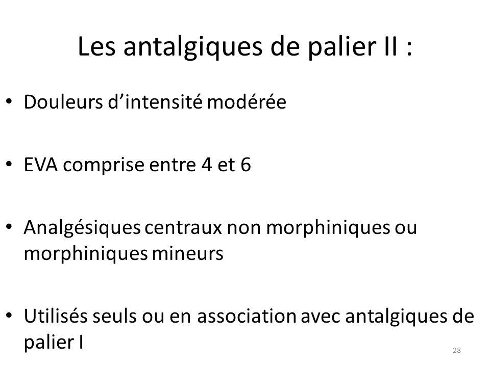 Les antalgiques de palier II :