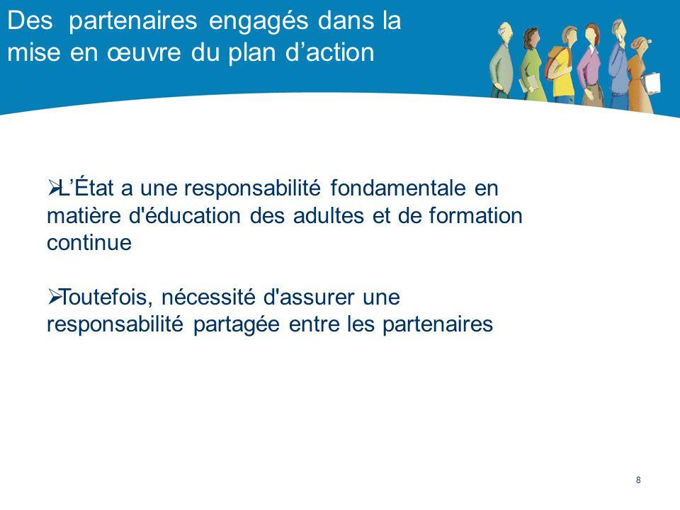 Des partenaires engagés dans la mise en œuvre du plan d'action