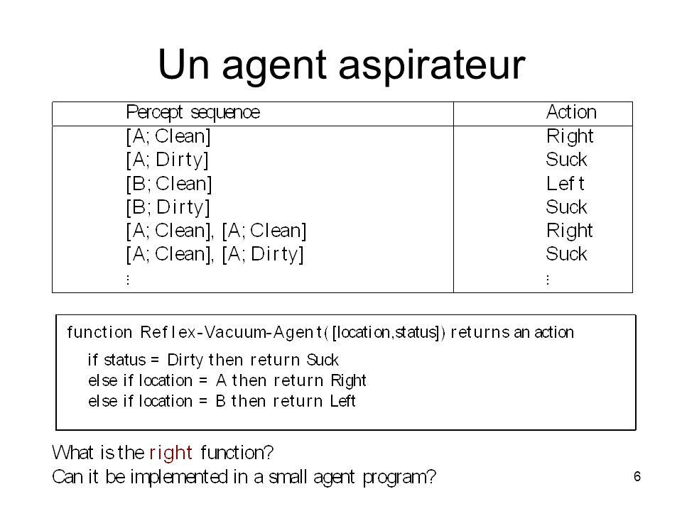 Un agent aspirateur