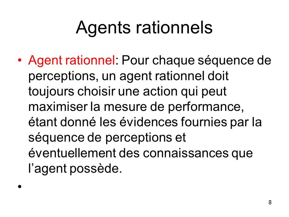 Agents rationnels
