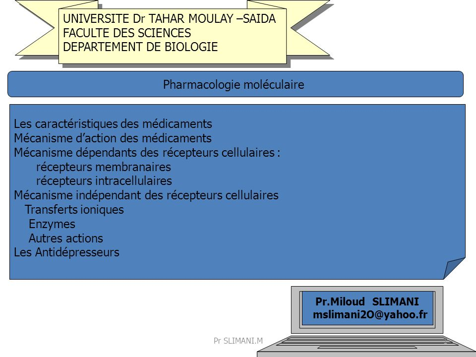 Pharmacologie moléculaire