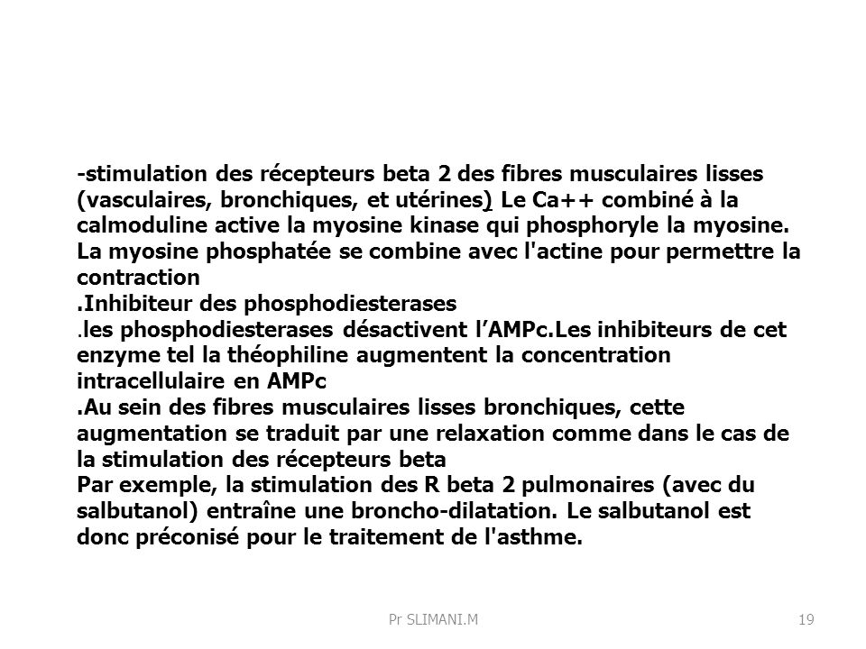 .Inhibiteur des phosphodiesterases
