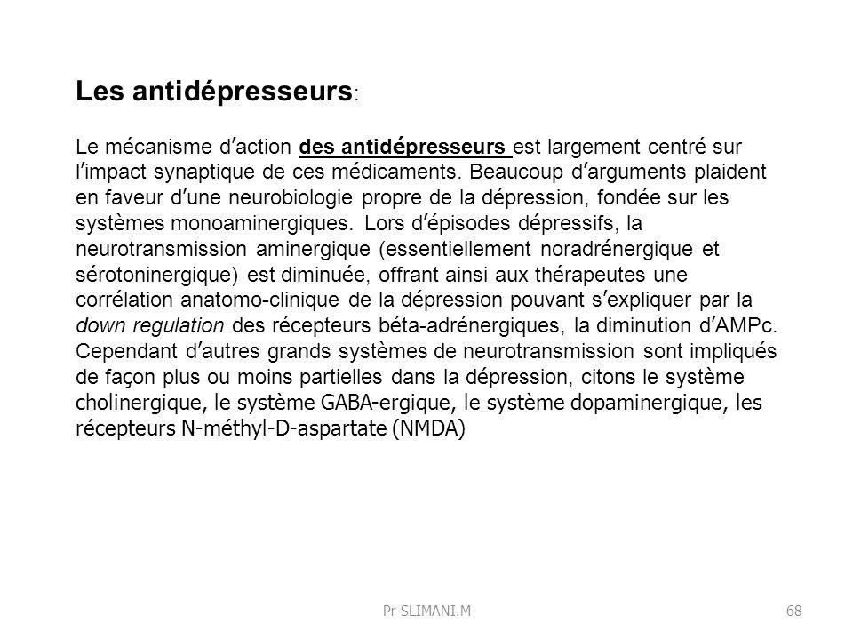Les antidépresseurs: