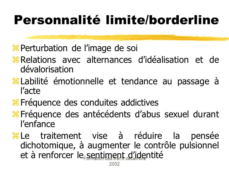 Personnalité limite/borderline