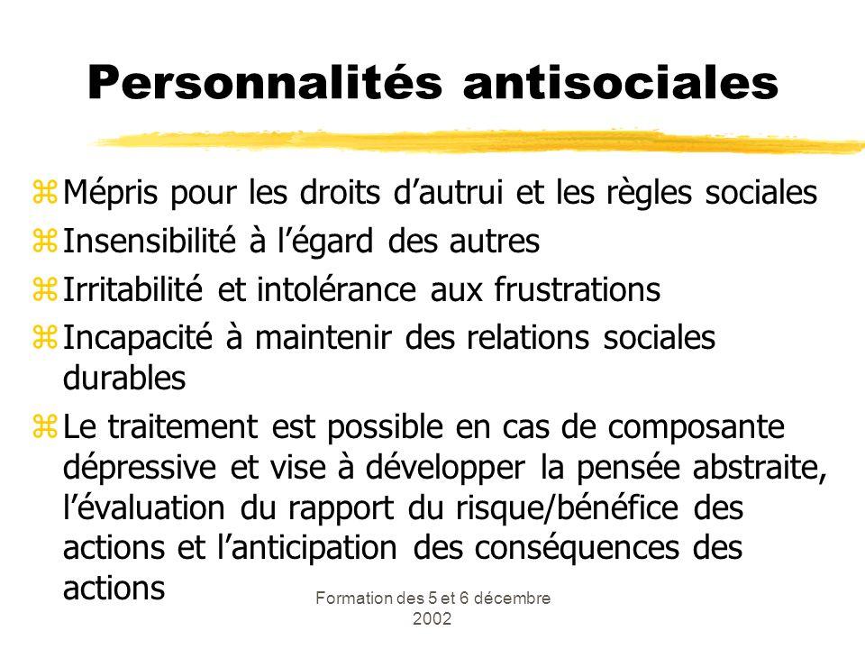 Personnalités antisociales