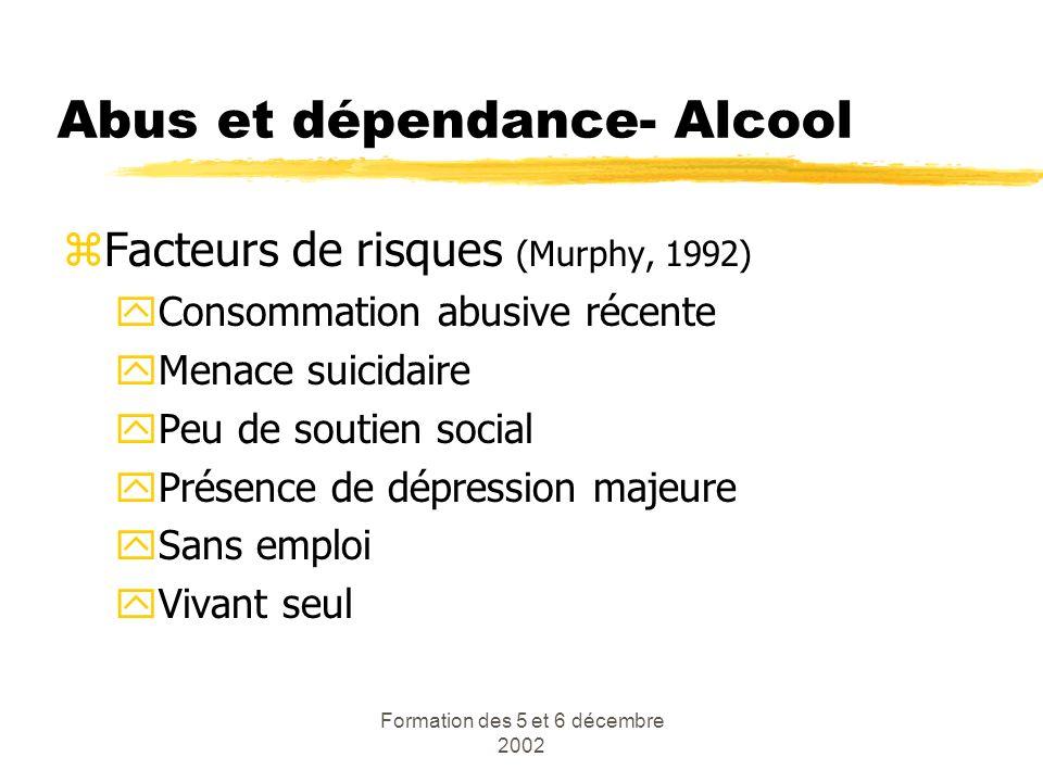 Abus et dépendance- Alcool