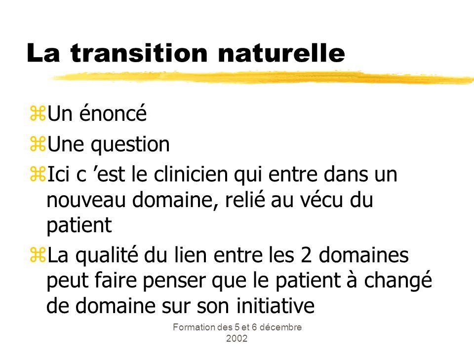 La transition naturelle