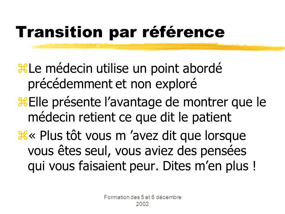 Transition par référence