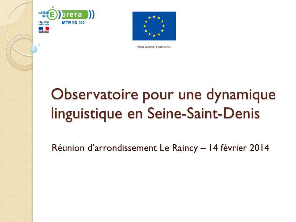 Observatoire pour une dynamique linguistique en Seine-Saint-Denis