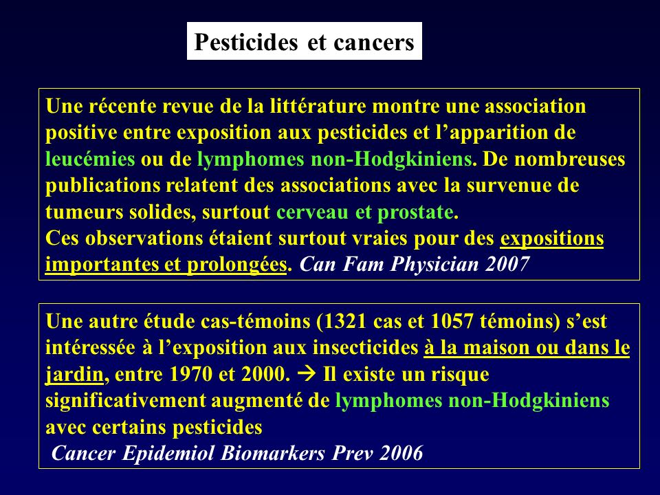 Pesticides et cancers