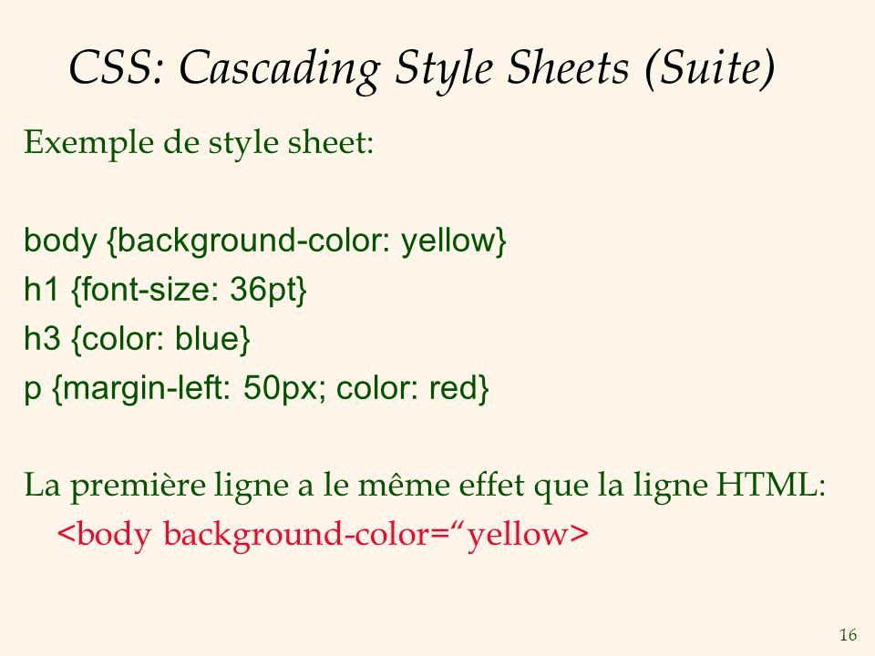 CSS: Cascading Style Sheets (Suite)