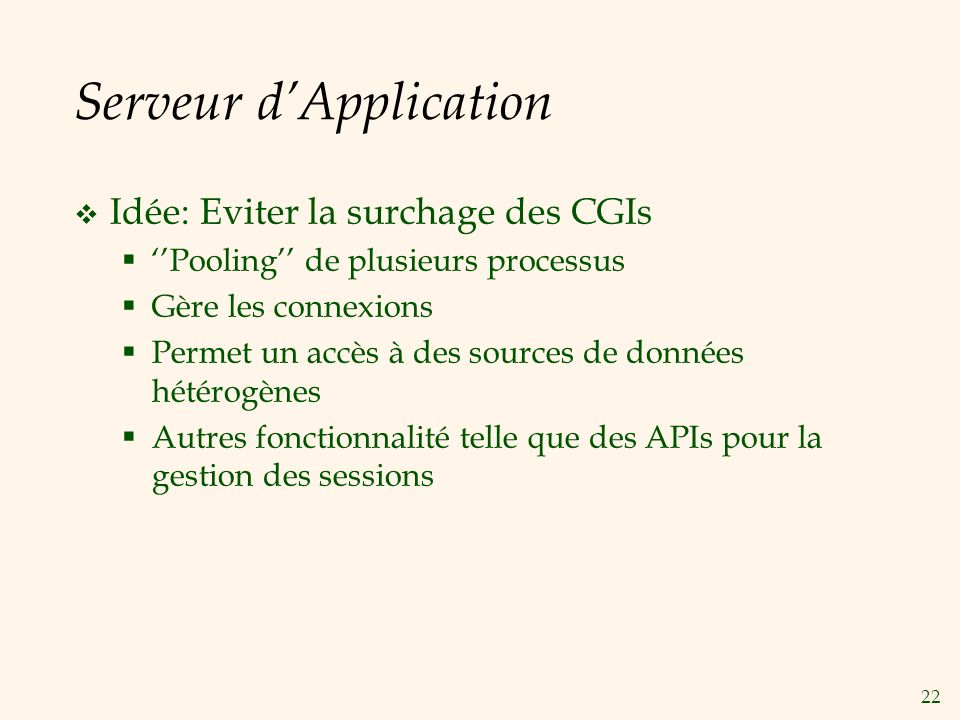 Serveur d'Application