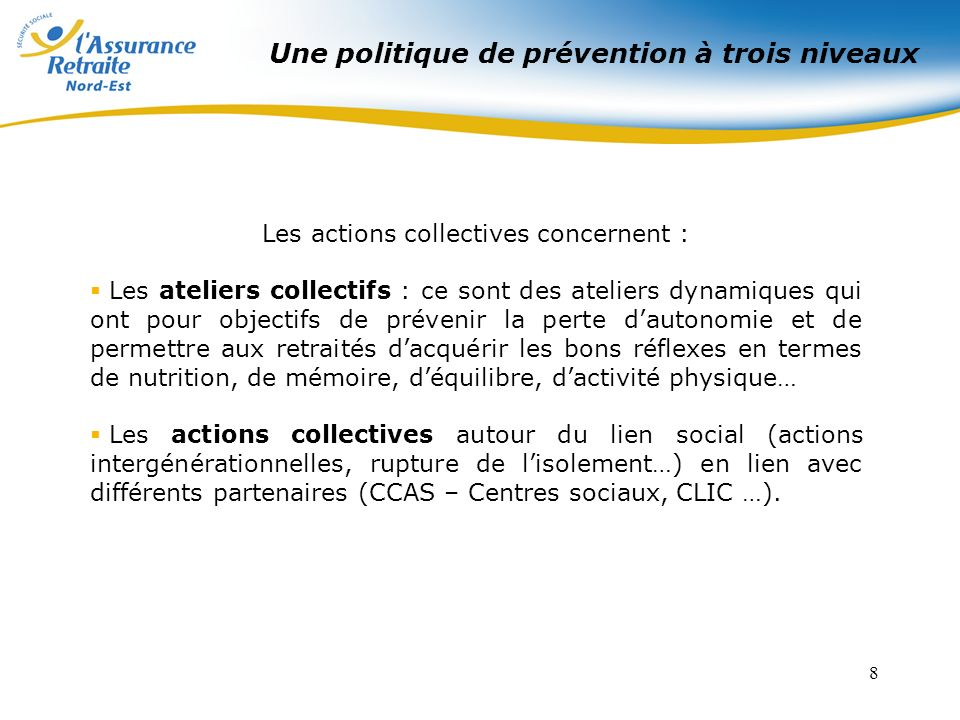 Les actions collectives concernent :