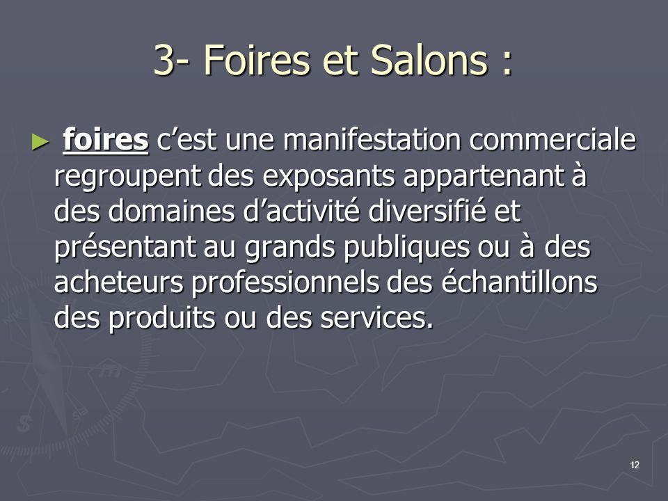 3- Foires et Salons :