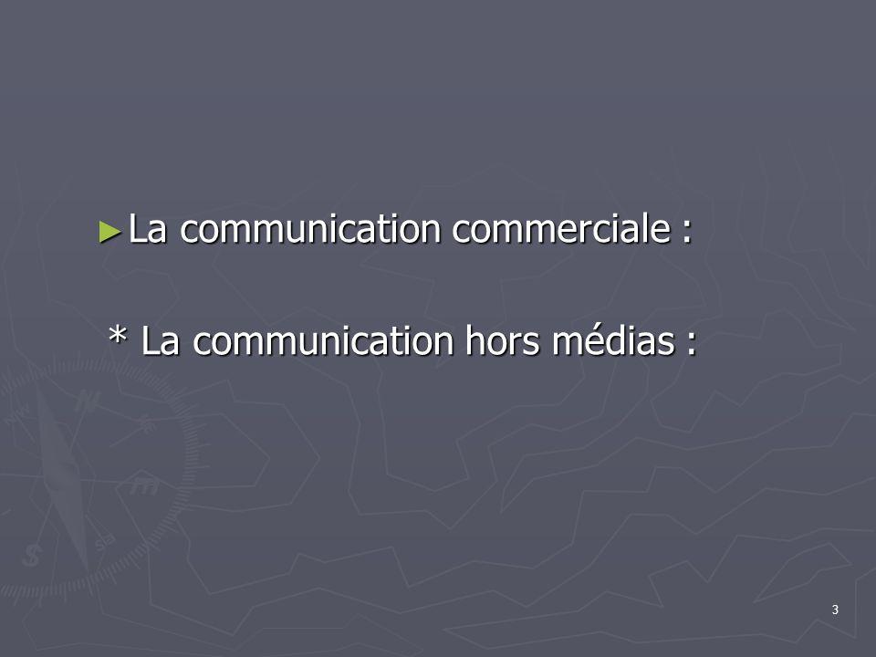 La communication commerciale :