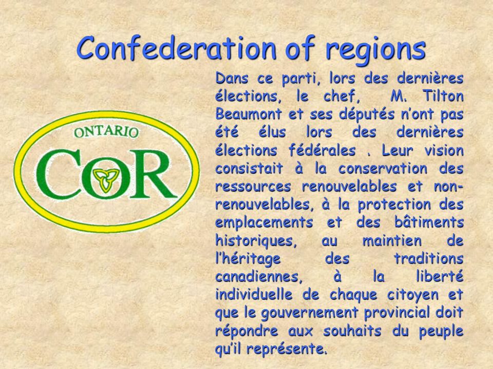 Confederation of regions