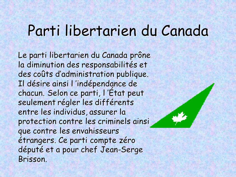 Parti libertarien du Canada
