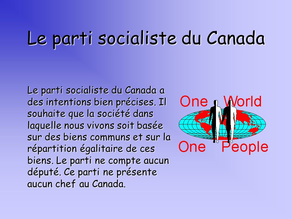 Le parti socialiste du Canada
