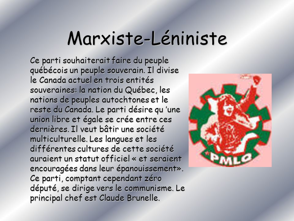 Marxiste-Léniniste