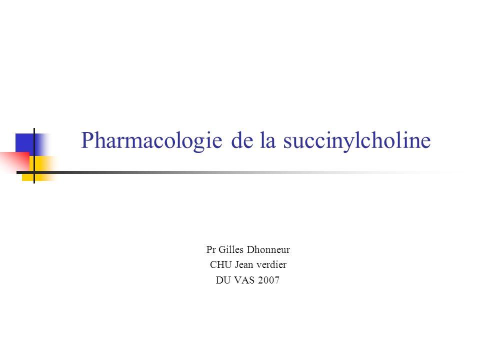 Pharmacologie de la succinylcholine