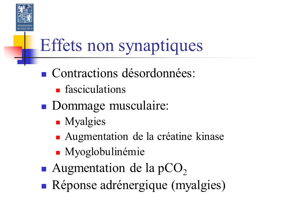 Effets non synaptiques