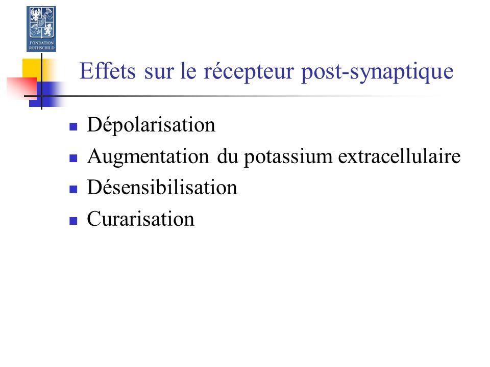 Effets sur le récepteur post-synaptique