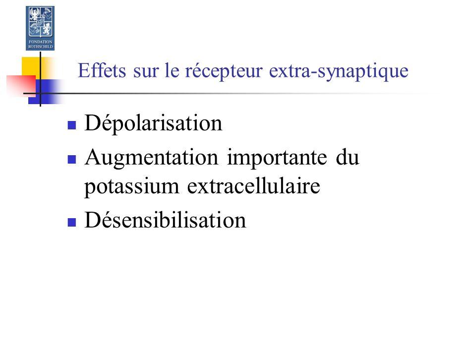 Effets sur le récepteur extra-synaptique