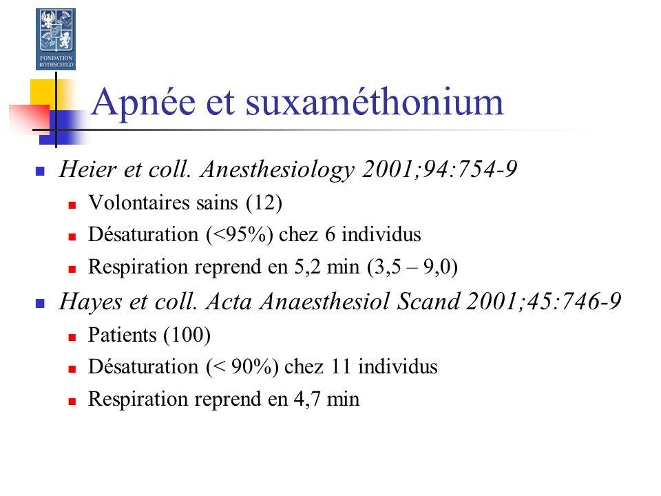 Apnée et suxaméthonium