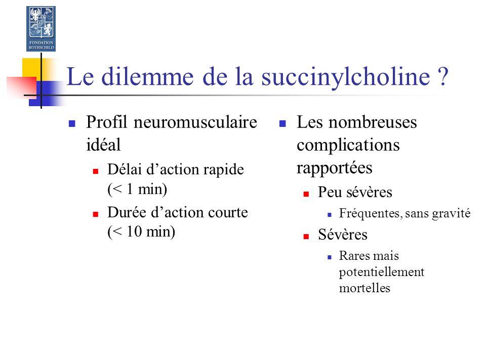 Le dilemme de la succinylcholine