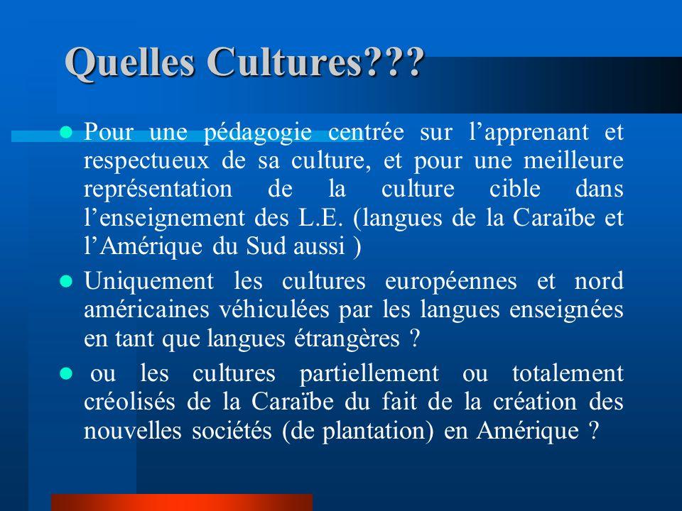 Quelles Cultures