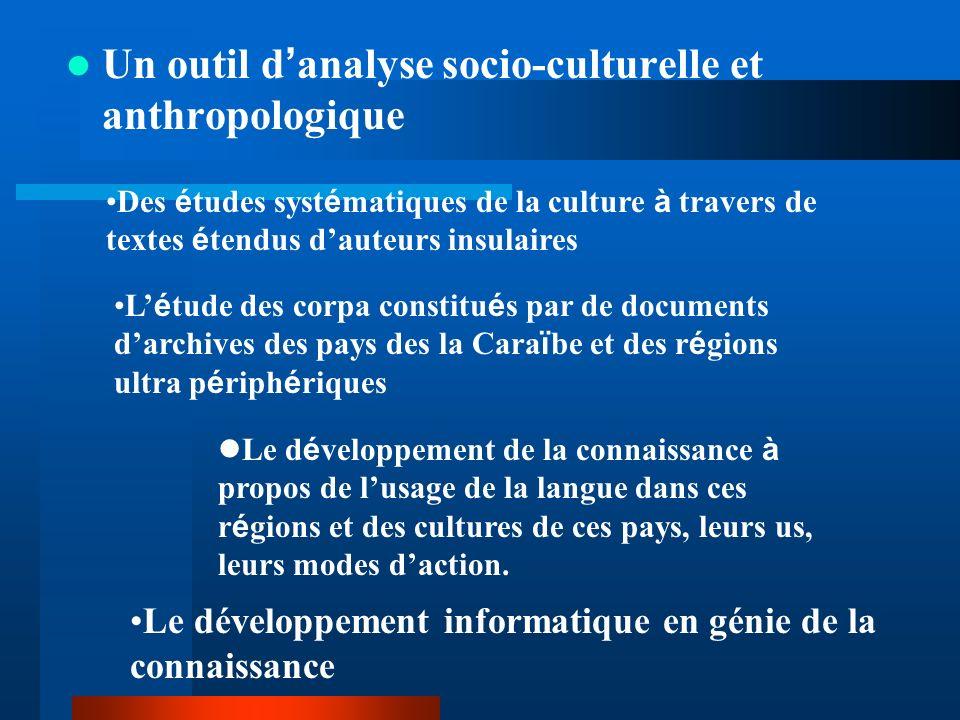 Un outil d'analyse socio-culturelle et anthropologique