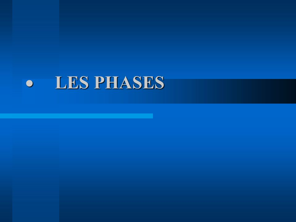 · LES PHASES