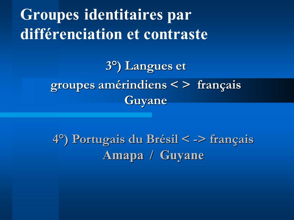 Groupes identitaires par différenciation et contraste
